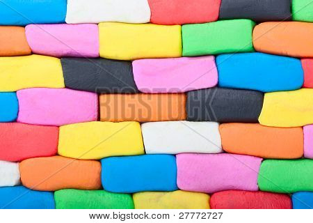 Colorful Plasticine Wall