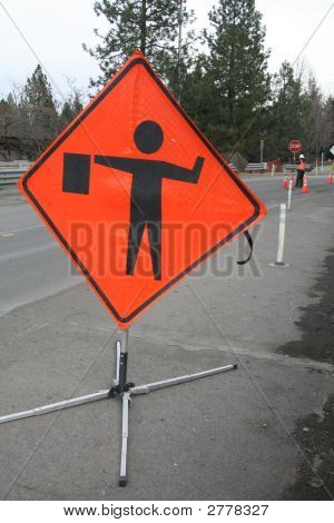 Road Construction Flagger