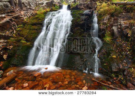 Upper Memorial Falls In Montana