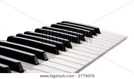 Piano Keys On White