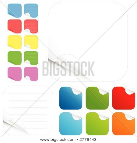 Blank Stickers And Paper Pads In Different Colors