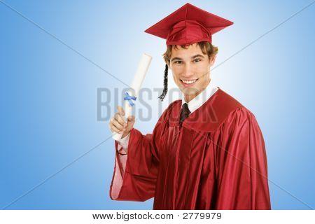 Pós-graduação em azul
