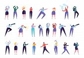 Creative Marketing Agency People Character Set. Businessman Work As Team Isolated. Various Gesture B poster