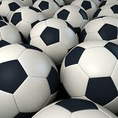 Background Of Soccer Balls