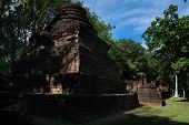 Wat Kamphaeng Ngam Historical Park In Kamphaeng Phet, Thailand (a Part Of The Unesco World Heritage  poster