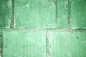 Putty Green Concrete Block Wall. Background. Texture poster