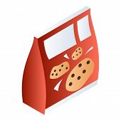 Biscuit Pack Icon. Isometric Of Biscuit Pack Icon For Web Design Isolated On White Background poster