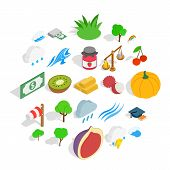 Vital Icons Set. Isometric Set Of 25 Vital Vector Icons For Web Isolated On White Background poster