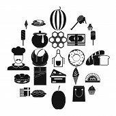Executive Chef Icons Set. Simple Set Of 25 Executive Chef Vector Icons For Web Isolated On White Bac poster