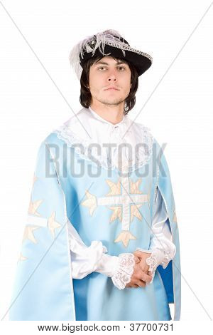 Young Man Dressed As Musketeer