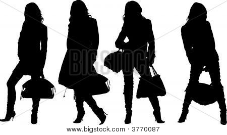 Shopping Posing Girls