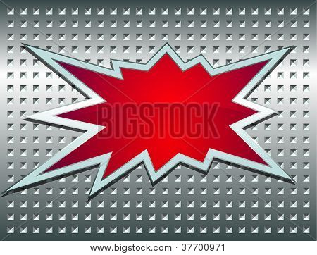Bang Sign On The Metal Grid