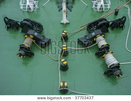 Ship Deck With Rope