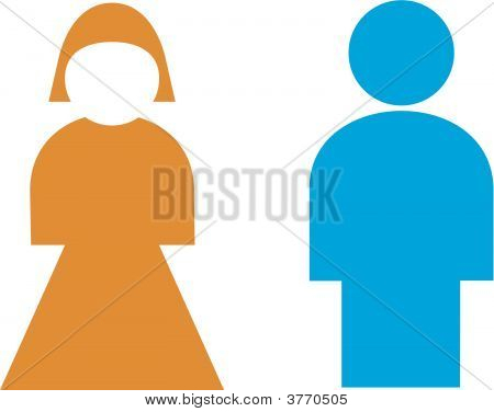 Signo de baño, hombre, mujer