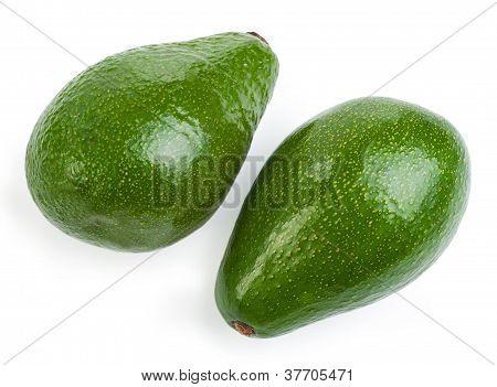 Couple Avocado Isolated On A White Background