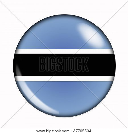 Button Flag Of Botswana