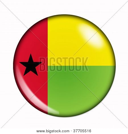 Button Flag Of Guinea Bissau