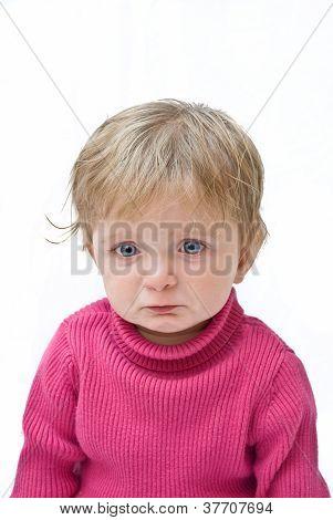 Upset baby feeling ill.