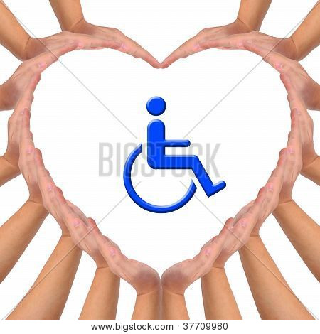Conceptual Image, Love Handicapped Person.