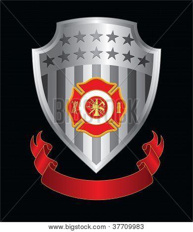 Firefighter Cross Shield