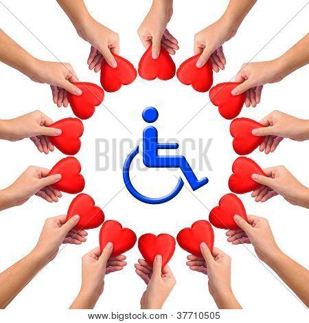 Conceptual Image, Love Handicapped Person.