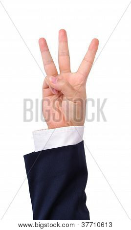 Businessman's Hand Sign