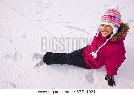 Girl With Ice Skates