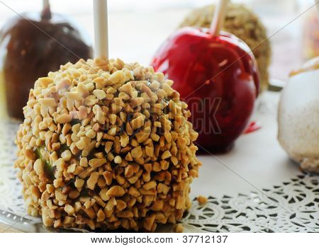 candy apples, sweets, dessert