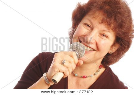 Lady With Microphone 608