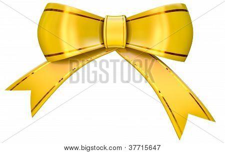 yellow satin gift bow