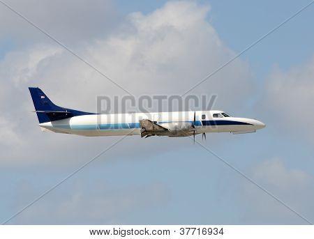 Modern Turboprop Airplane