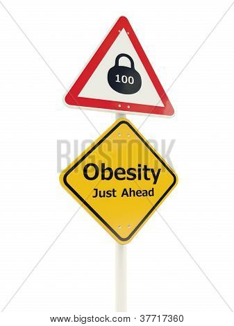 Obesity Just Ahead road sign