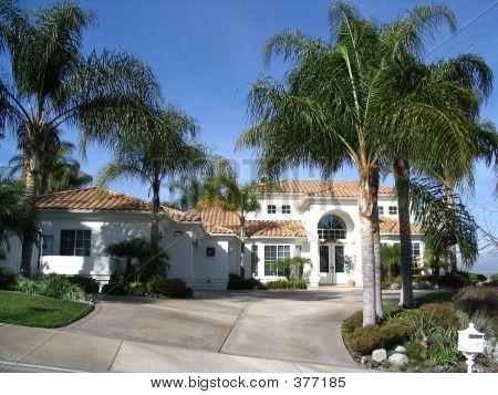 White Bilevel Home