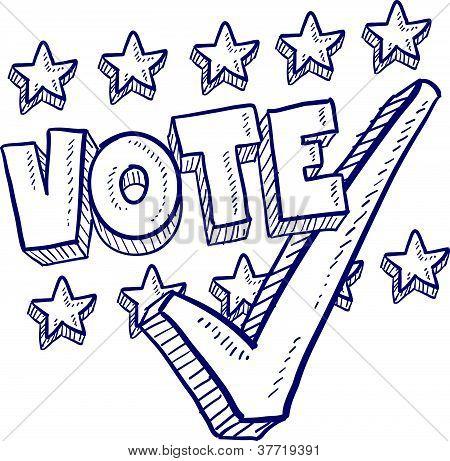 Election voting sketch