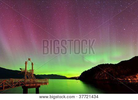 Aurora Borealis At Porteau Cove Provincial Park