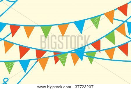 Seamless banner with flags for kids