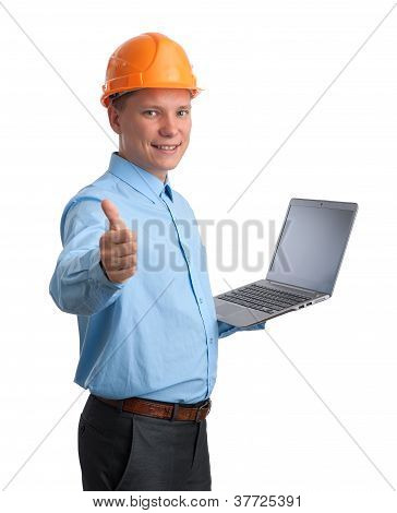 Engineer With Laptop Computer