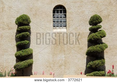 Shrubs Outside a Castle Window