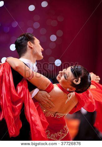 Couple At Dancing Pose