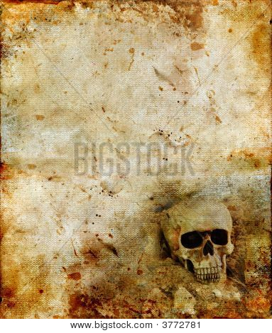 Skull On A Grunge Background