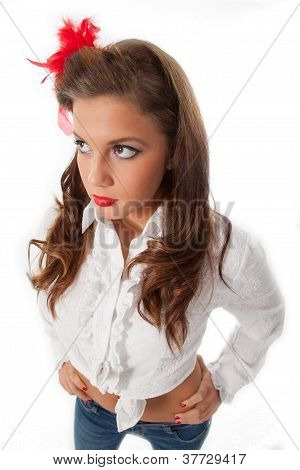 Sexy Pin-up Teenage Girl