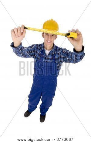 Worker With Tape Measure
