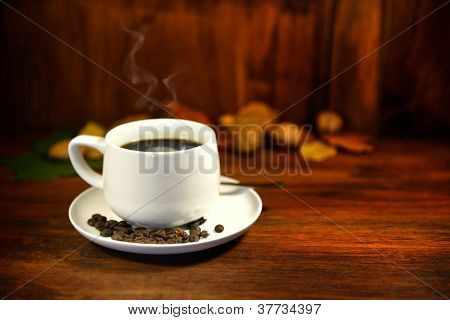 Steaming Coffee