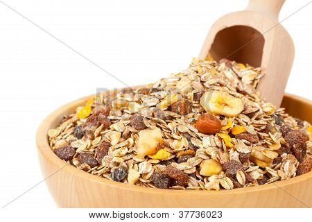 Muesli In Bowl With Scoop