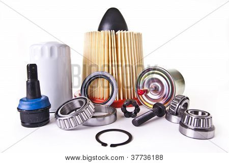Assortment Of Auto Engine Parts