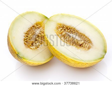 Yellow Melon Halves