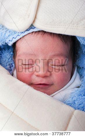 Newborn Baby Sleepy Smile
