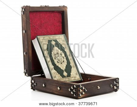 Alcorão aberto caixa