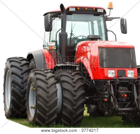 New Red Tractor With Double Wheels