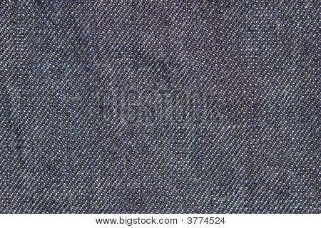 Macro Shot Of Jeans Textile